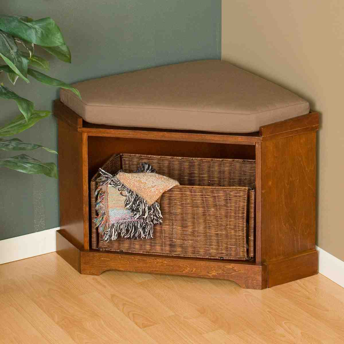 Corner Storage Bench Home Furniture Design