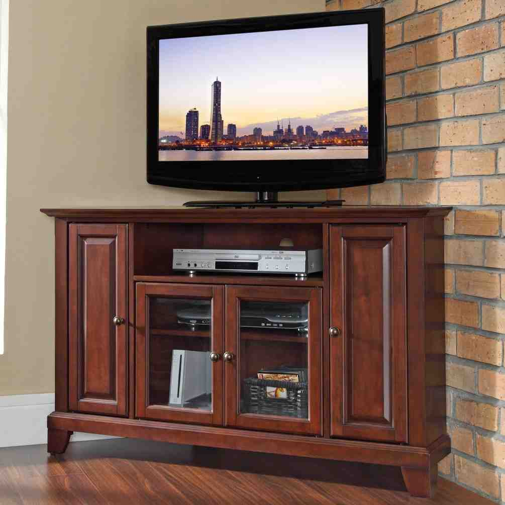 Corner TV Armoire for Flat Screen TVs - Home Furniture Design