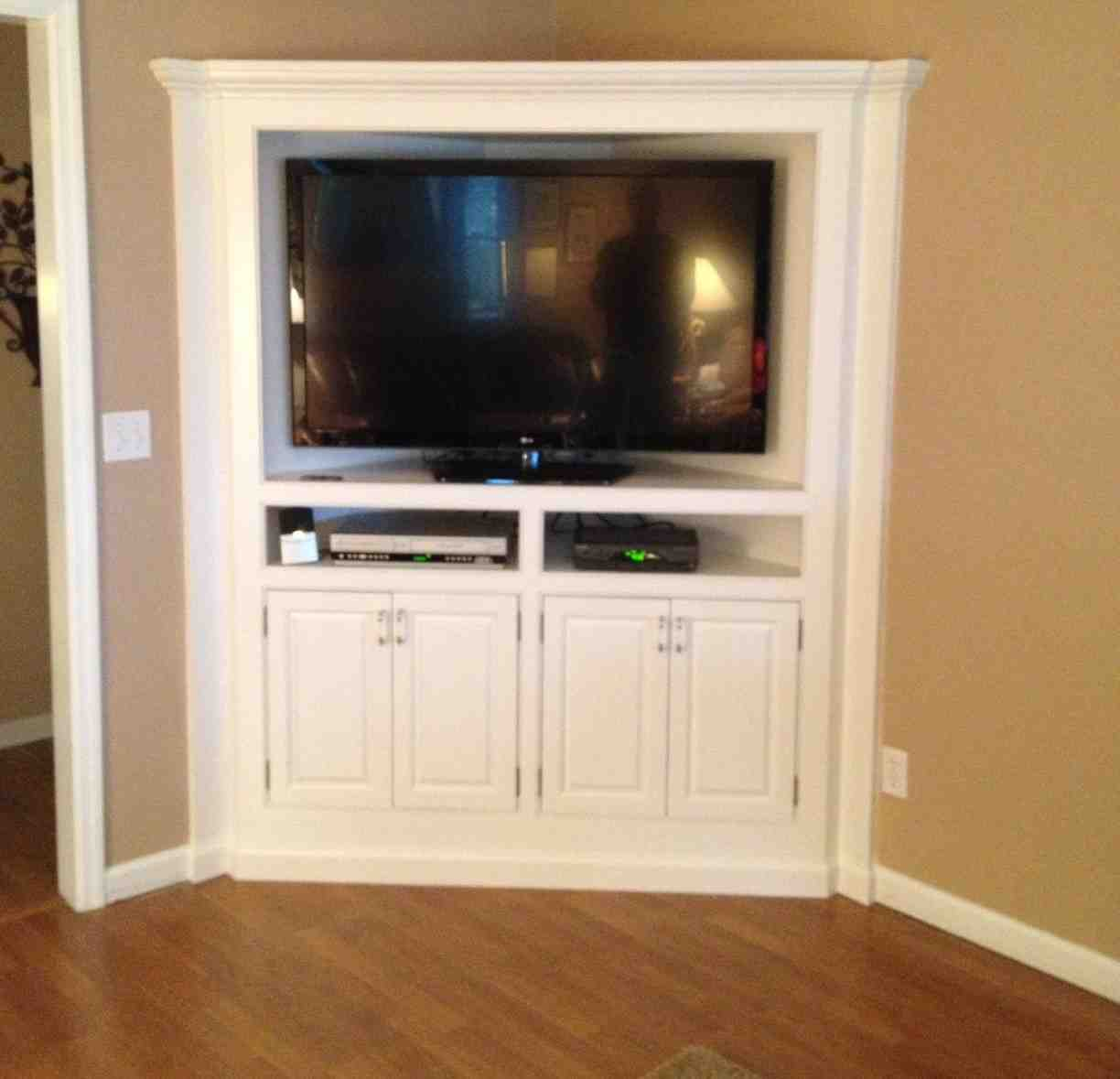 Corner tv armoire home furniture design for Armoire tv design