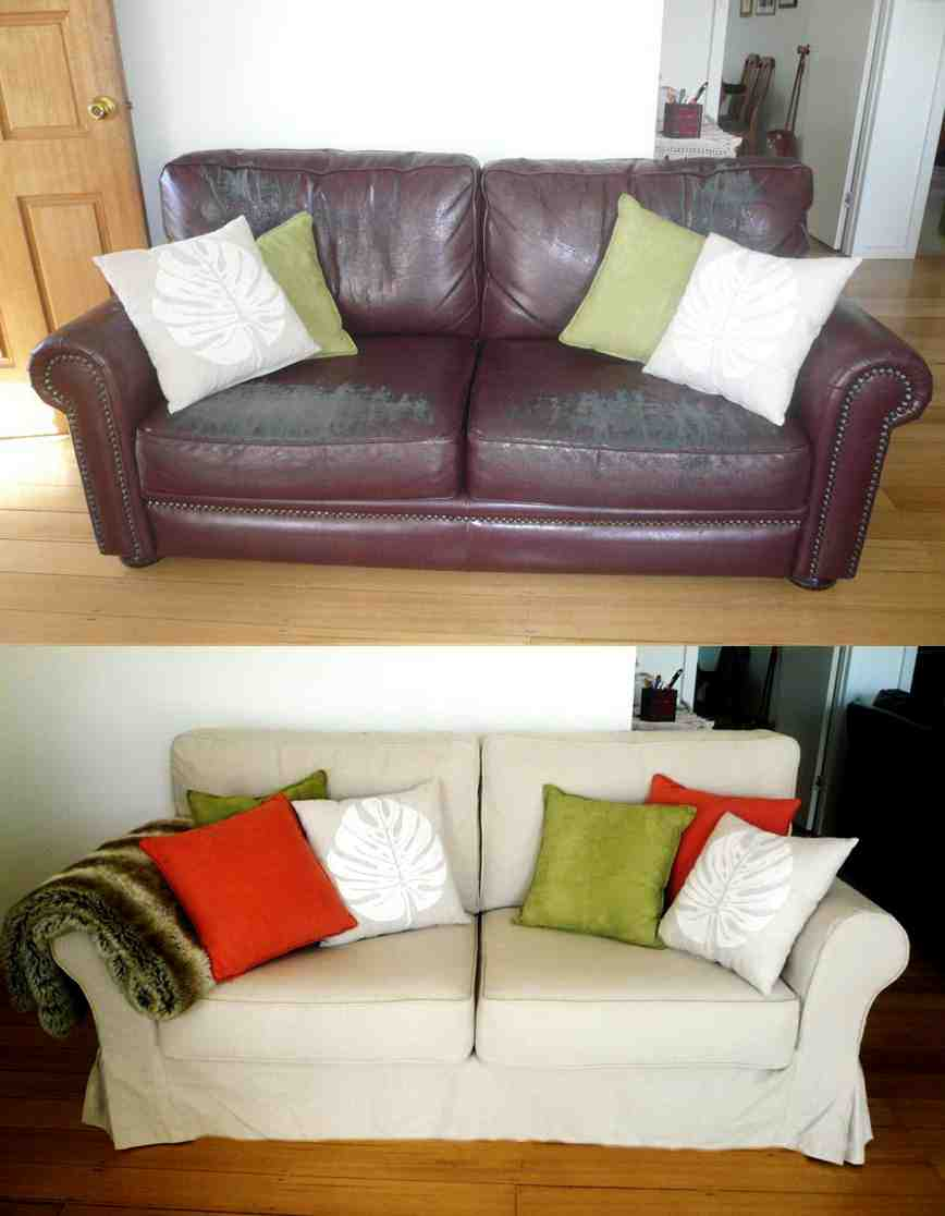 Custom made sofa slipcovers home furniture design for Unique couches living room furniture