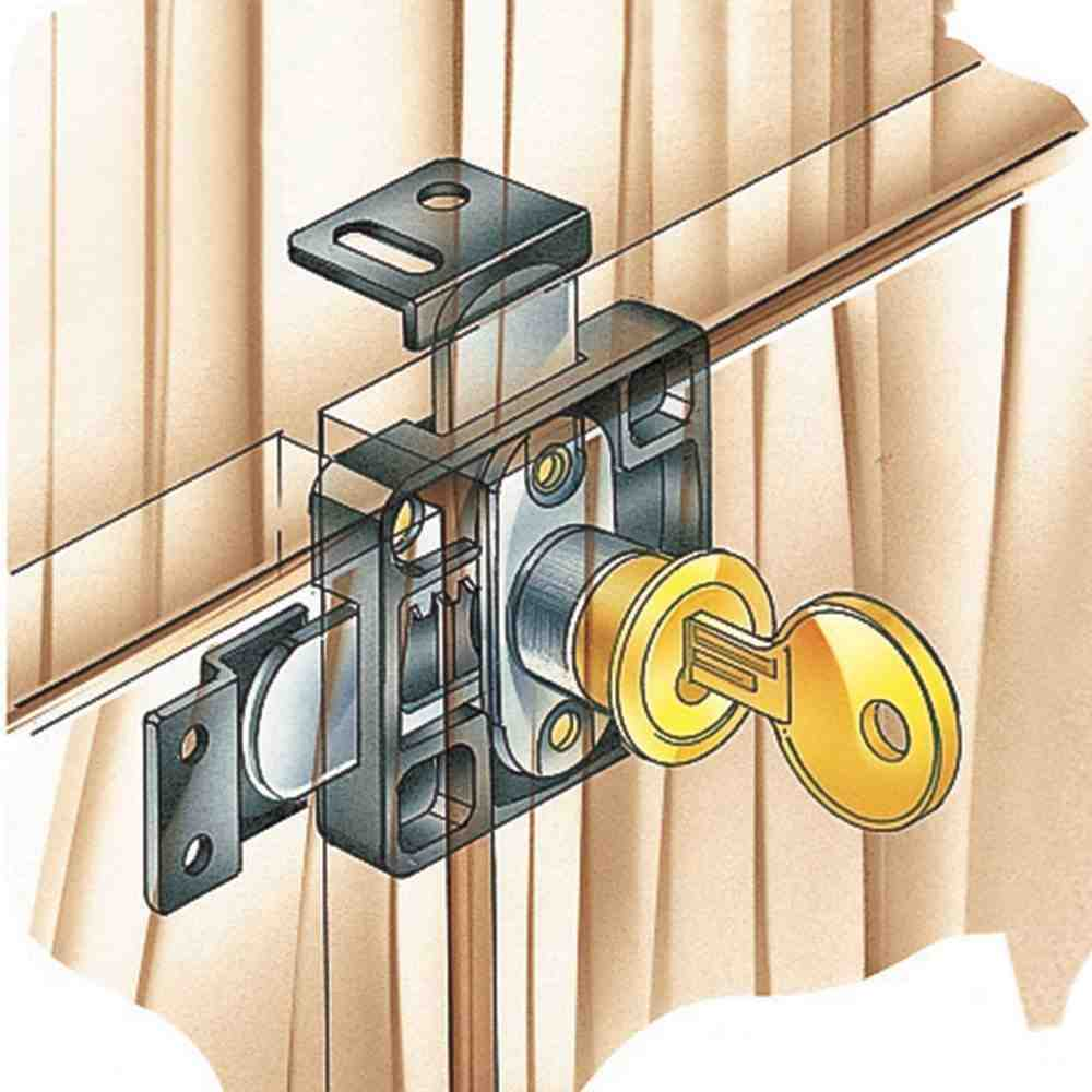 double cabinet door lock home furniture design