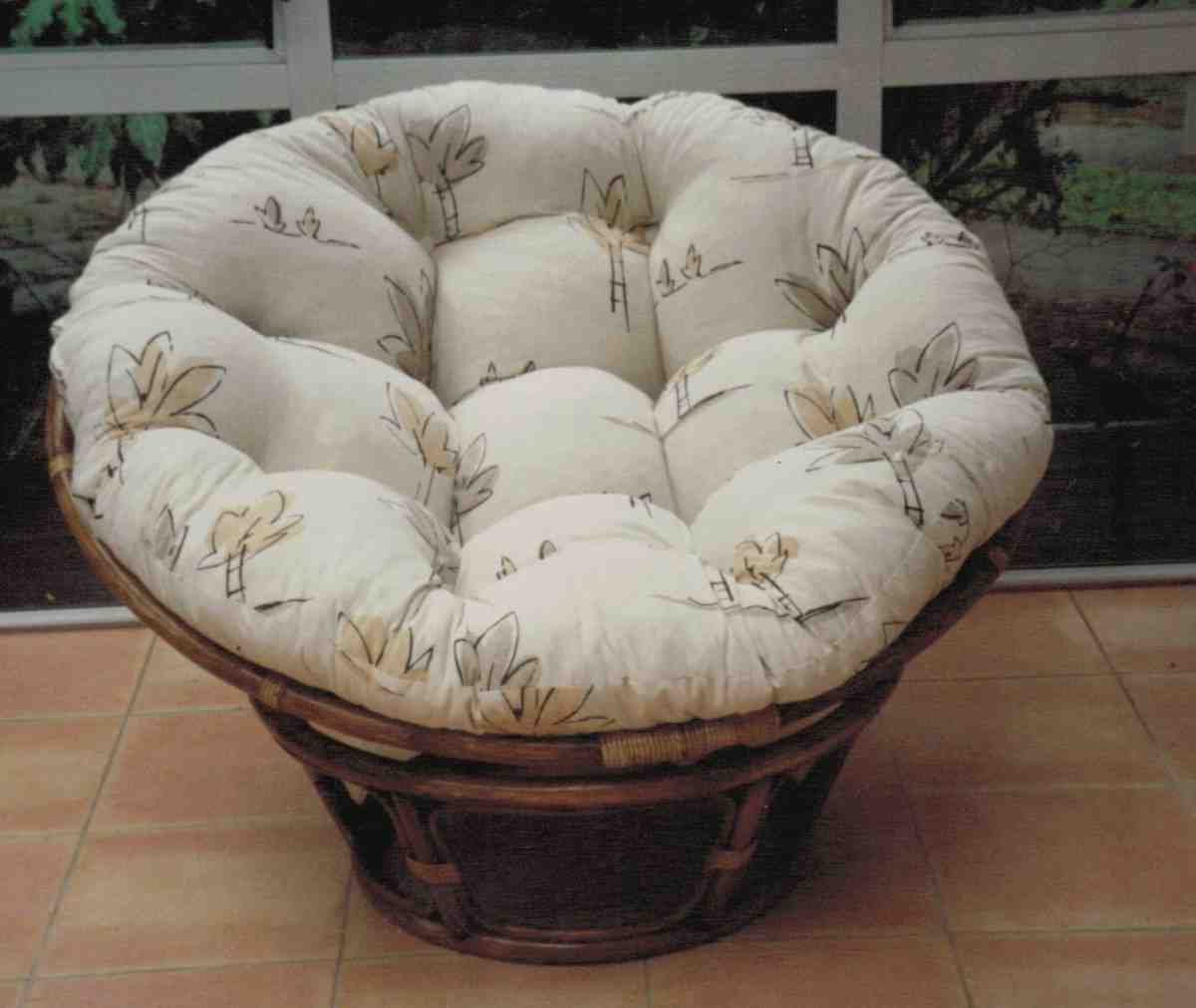 Double papasan cushion cover home furniture design Papasan cushion cover