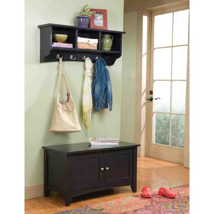 Entryway storage bench with coat rack home furniture design Storage bench with coat rack