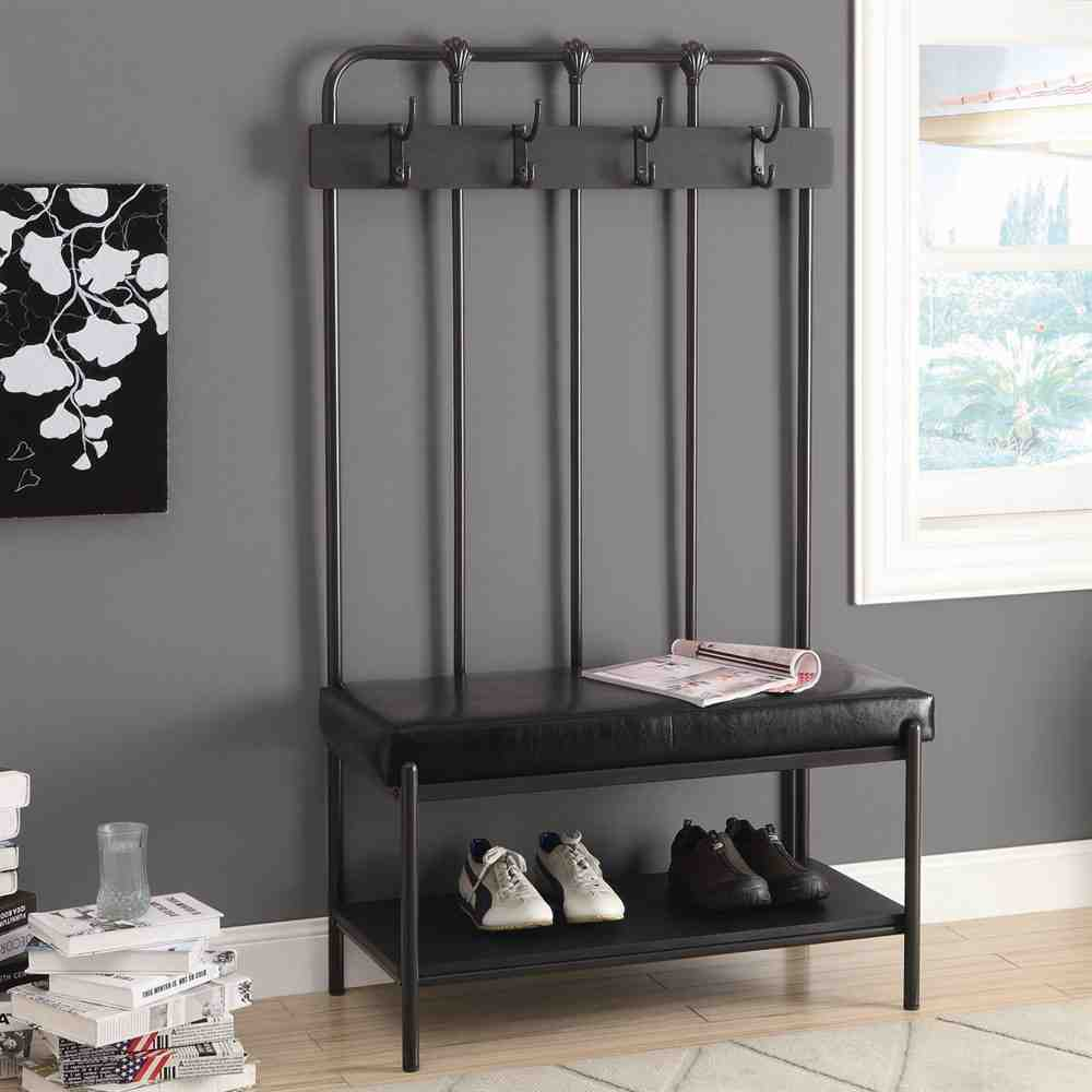 Entryway Storage Bench With Hooks Home Furniture Design