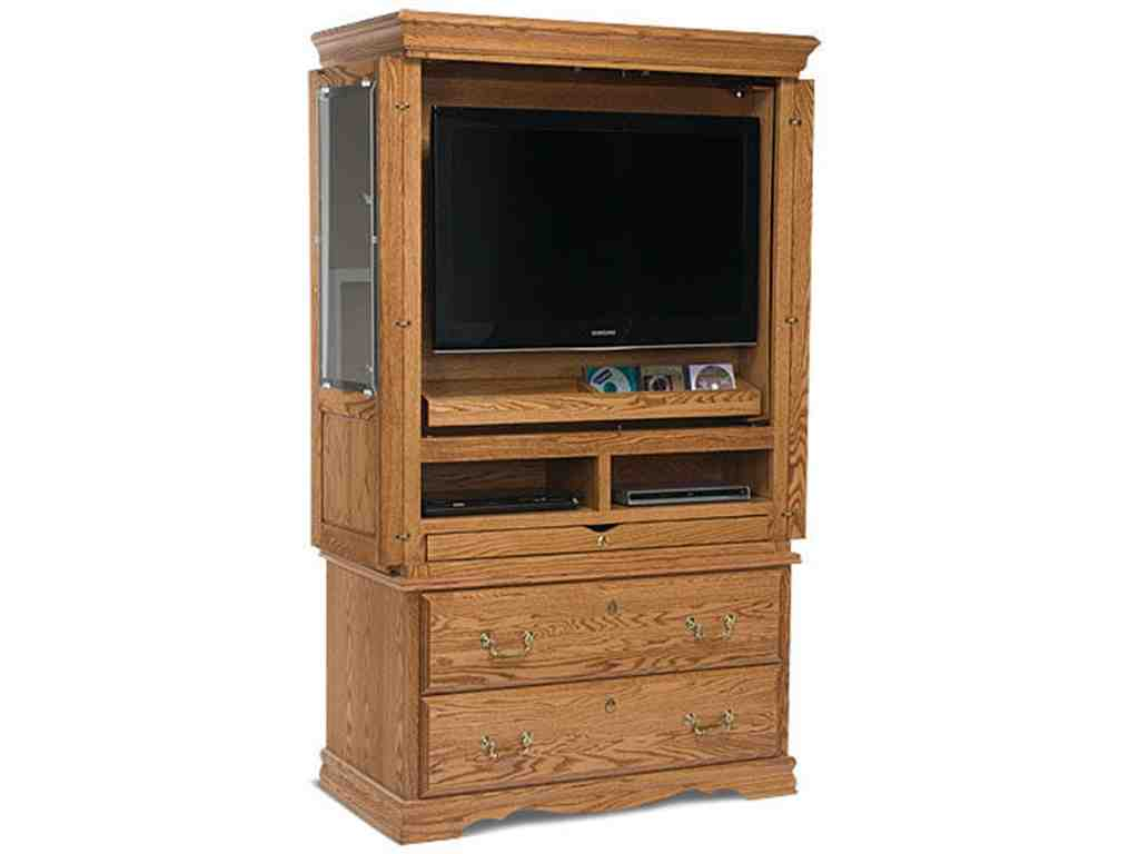 Flat screen tv armoire with doors home furniture design for Entertainment armoire