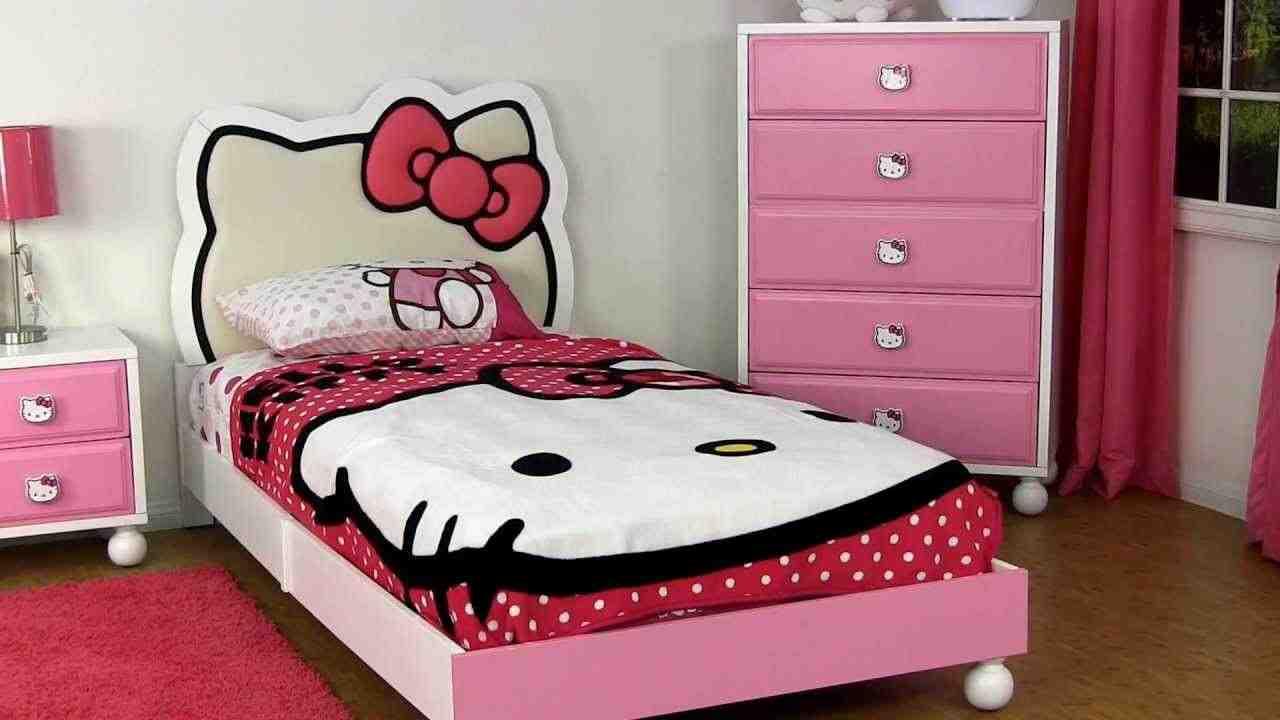 Hello kitty twin bedroom set
