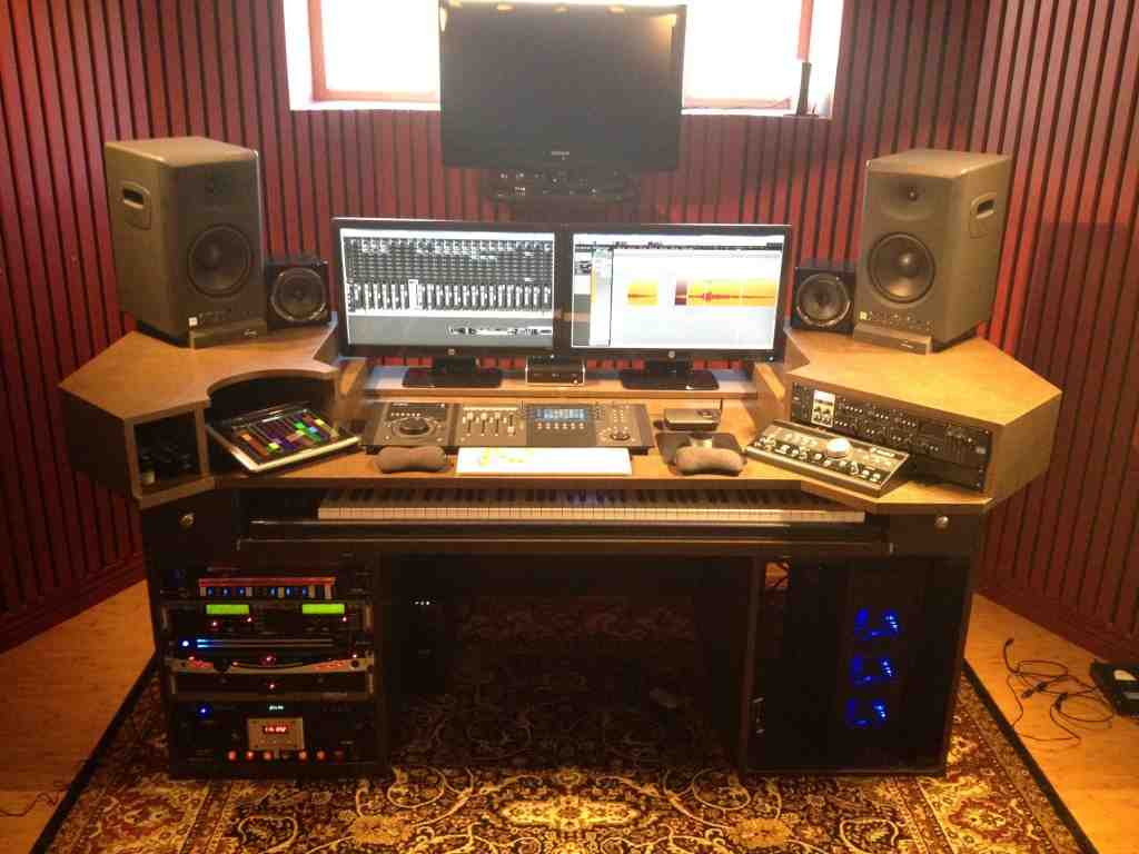 Home recording studio desk home furniture design - Home studio ...