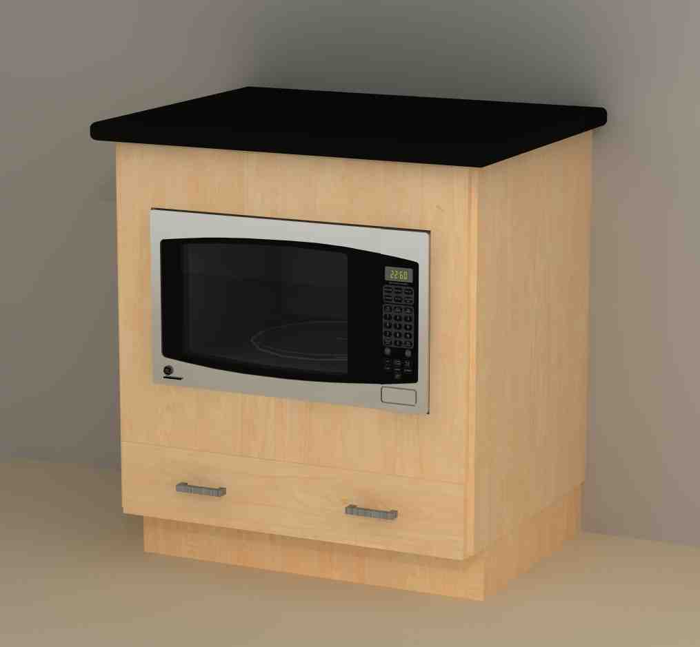 Microwave base cabinet home furniture design for Microwave carts ikea