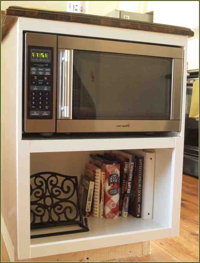 Microwave Cabinet Shelf Home Furniture Design