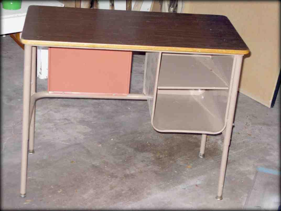 Old metal school desk home furniture design for School desks for home