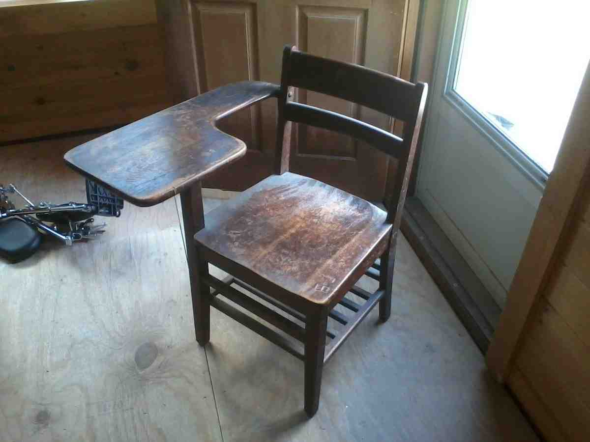 Old Time School Desk Home Furniture Design