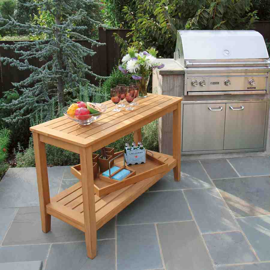 Outdoor Buffet Table with Cabinets - Home Furniture Design