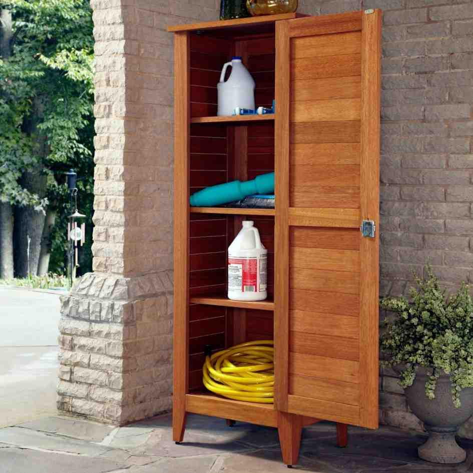 Outdoor cabinets for storage home furniture design - Armadio portascope in legno ikea ...