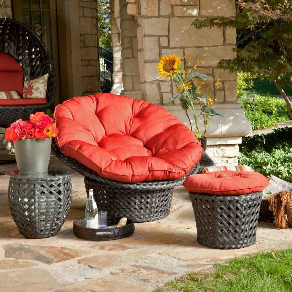 Outdoor Papasan Chair Cushion Home Furniture Design