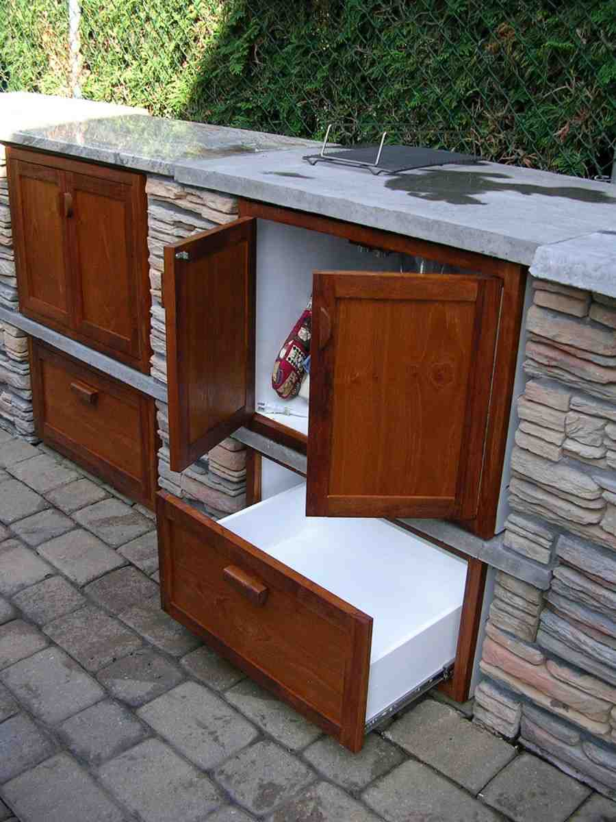 Outdoor wood cabinet home furniture design for Outdoor kitchen cabinets