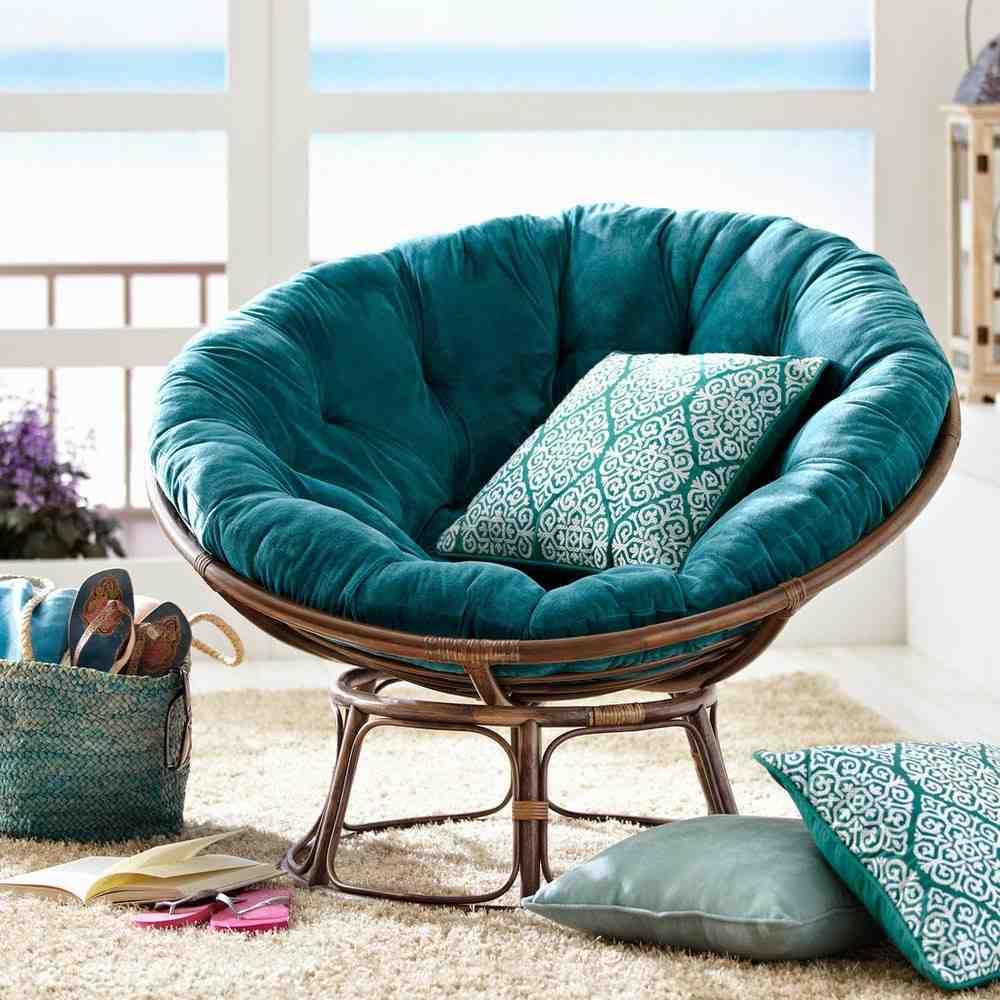 Papasan loveseat cushion home furniture design for Papasan sofa