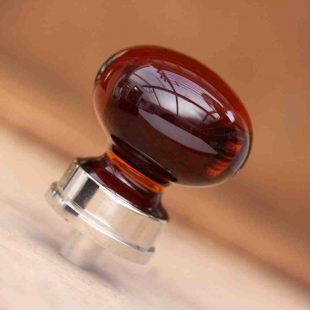 Red Glass Cabinet Knobs