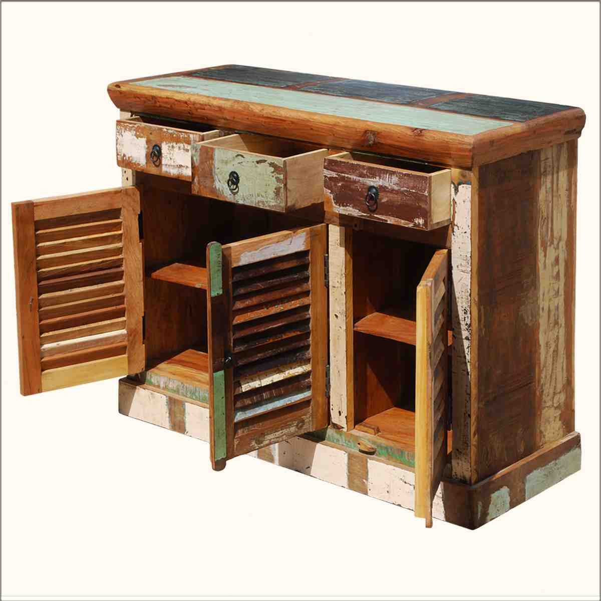 Rustic Storage Cabinet Home Furniture Design