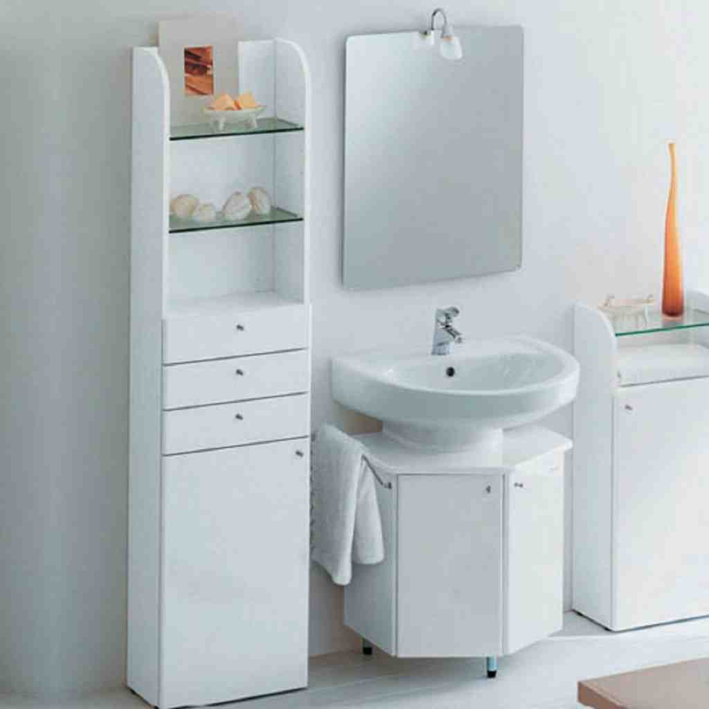 Small bathroom cabinet ideas home furniture design for Low bathroom cabinet
