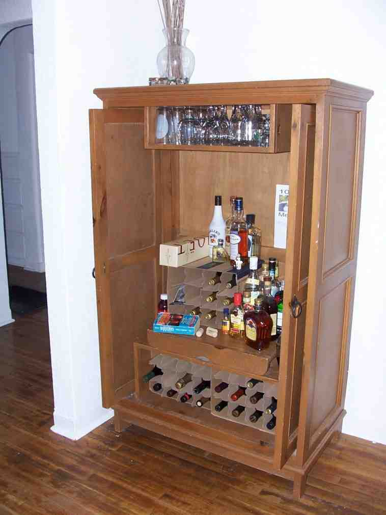 Small Locking Liquor Cabinet Home Furniture Design