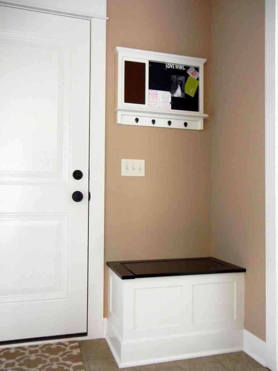 Small Foyer Storage : Small storage bench for entryway home furniture design
