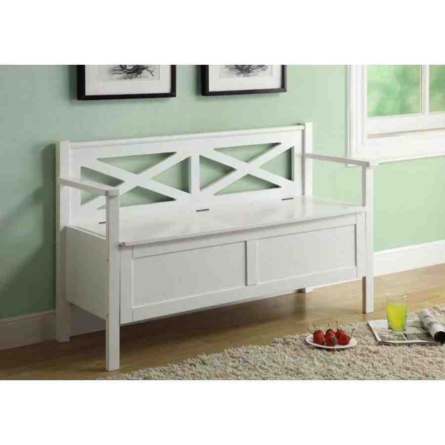 Solid Wood Storage Bench Home Furniture Design