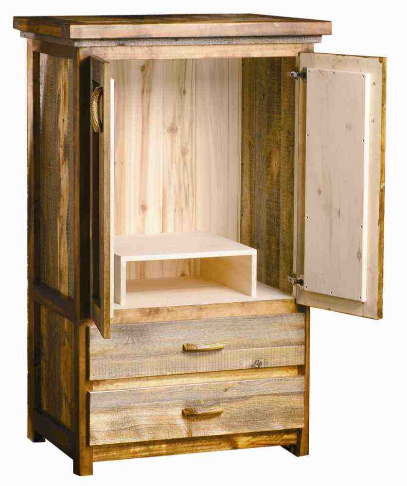 Solid wood tv armoire home furniture design