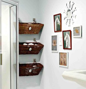 storage ideas for small bathrooms with no cabinets