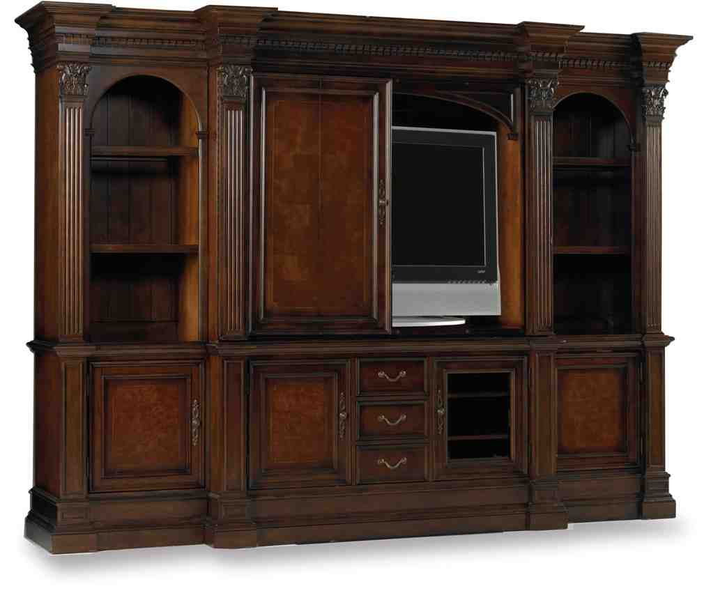 Tv armoire with pocket doors home furniture design for Entertainment armoire