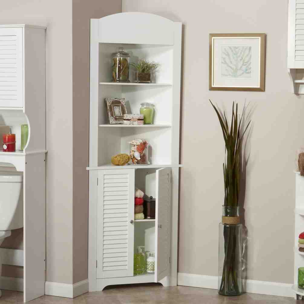 Tall Corner Linen Cabinet - Home Furniture Design