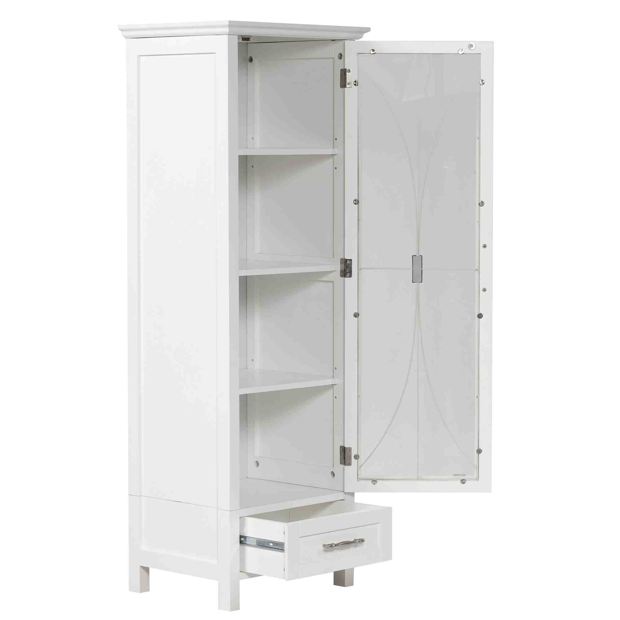 Tall linen storage cabinet home furniture design for Cupboard cabinet