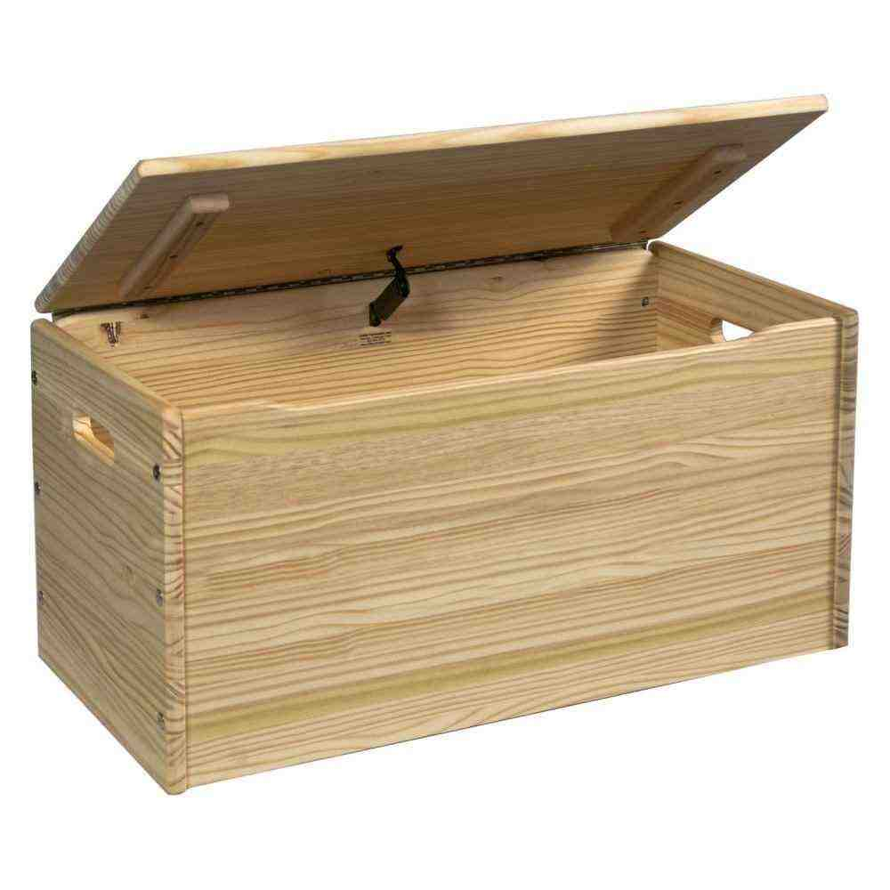 Unfinished Wood Storage Bench Home Furniture Design