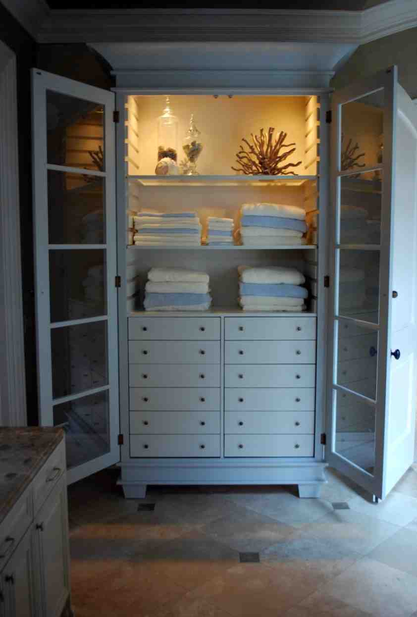 Vintage Linen Cabinet Home Furniture Design