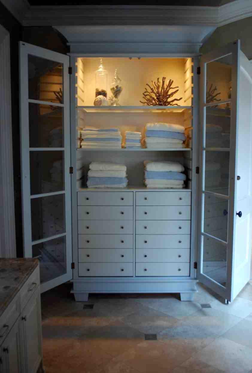 Vintage Linen Cabinet - Home Furniture Design