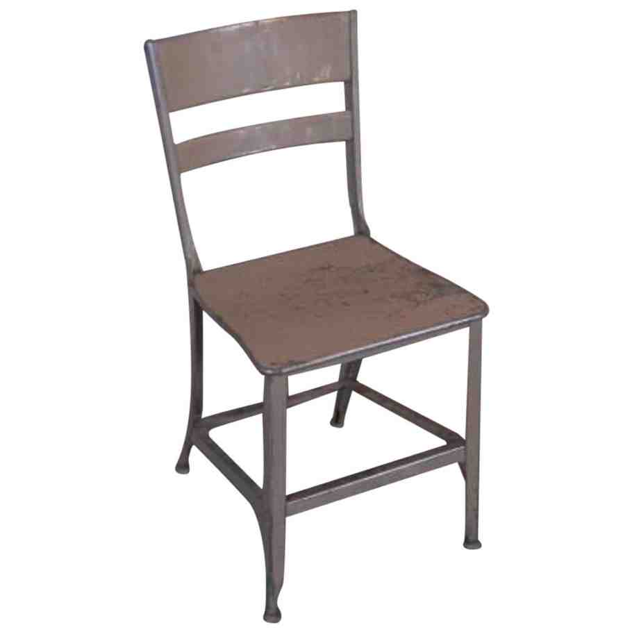 Vintage Metal Dining Chairs Home Furniture Design