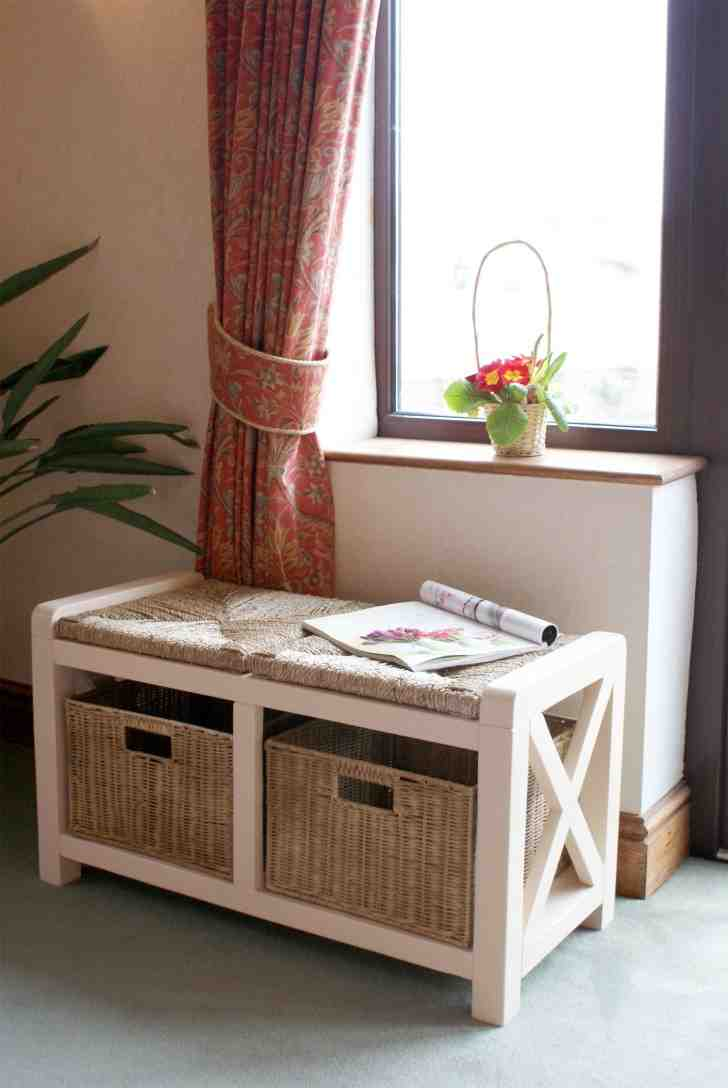 Wooden Shoe Storage Bench Home Furniture Design