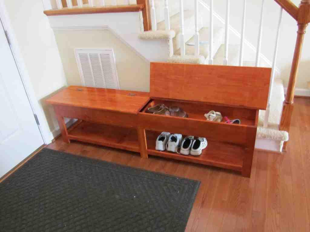 Wooden Storage Bench Plans - Home Furniture Design