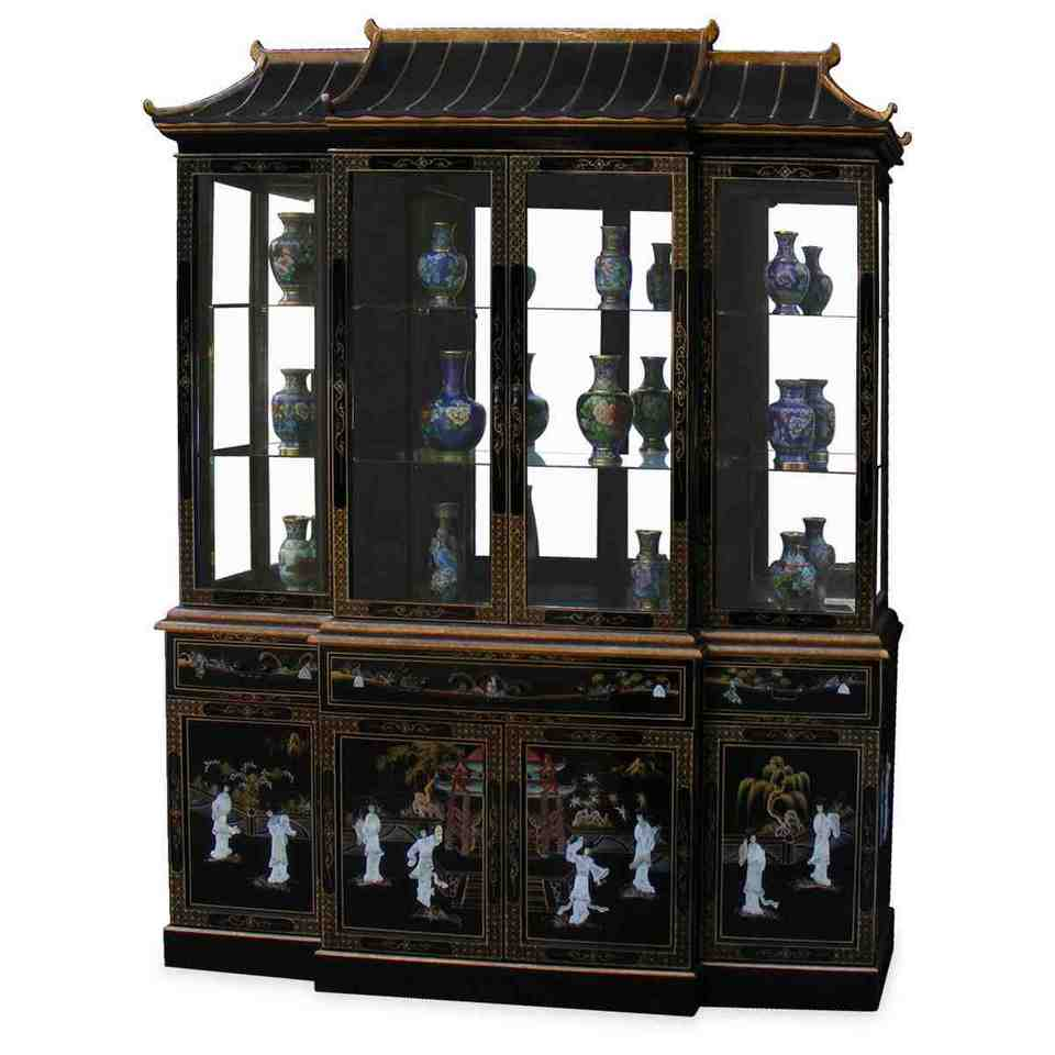 Black corner china cabinet home furniture design Home furniture from china