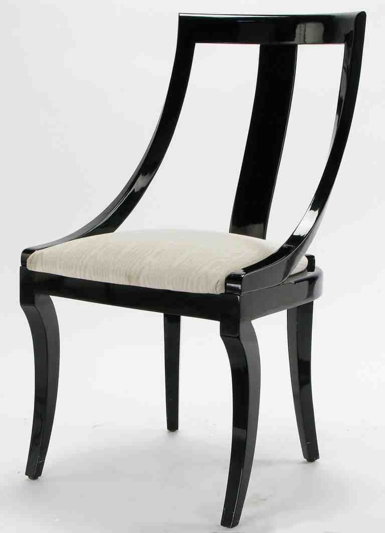 Black Lacquer Dining Chairs L Home Furniture Design