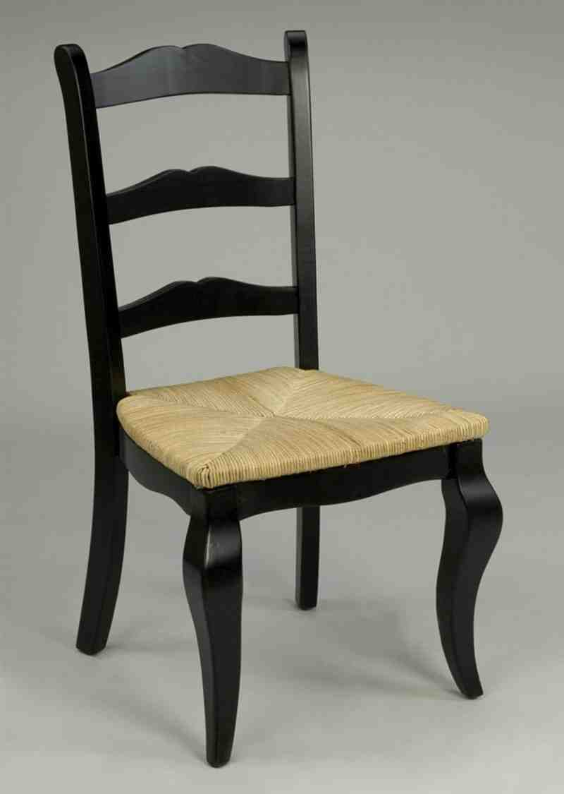 Black ladder back dining chairs home furniture design - Ladder back dining room chairs ...