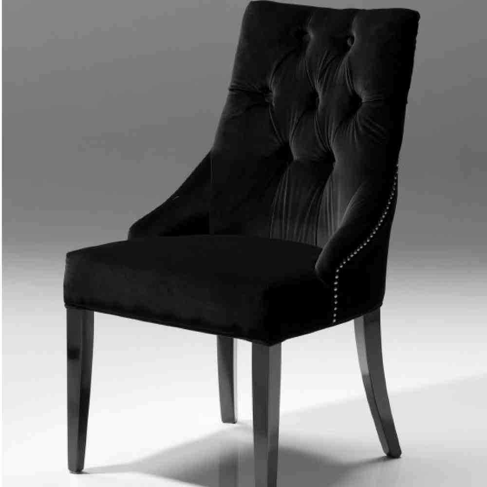 Black Dining Furniture: Black Velvet Dining Chairs