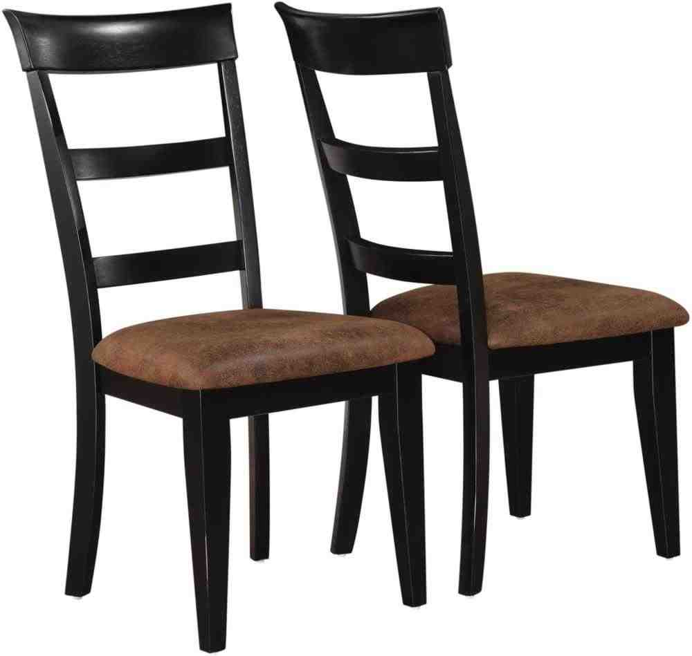 Black wood dining chairs home furniture design for Black dining room chairs