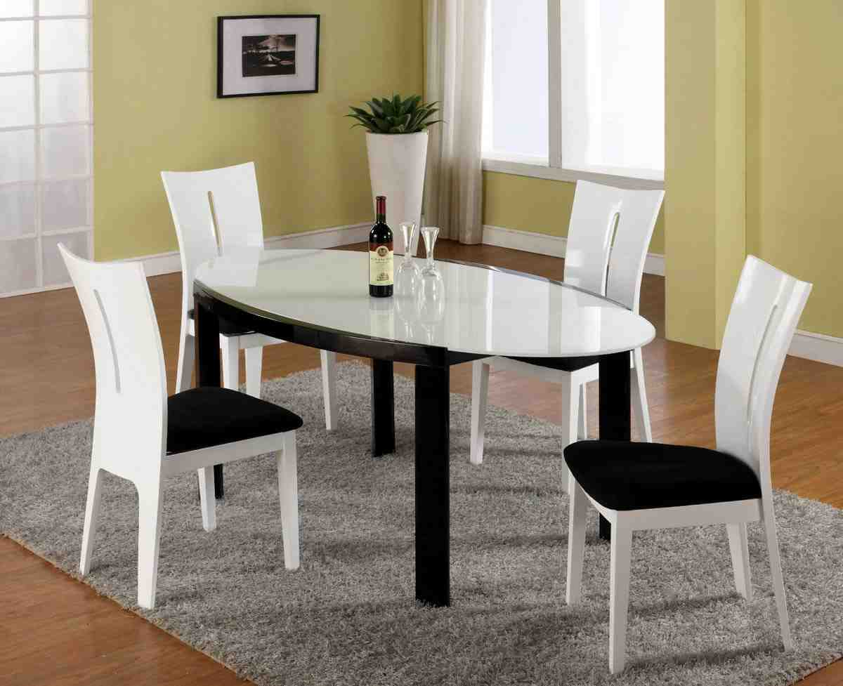 Black And White Dining Table And Chairs Home Furniture