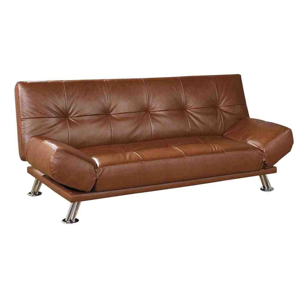 brown leather futon sofa bed home furniture design. Black Bedroom Furniture Sets. Home Design Ideas
