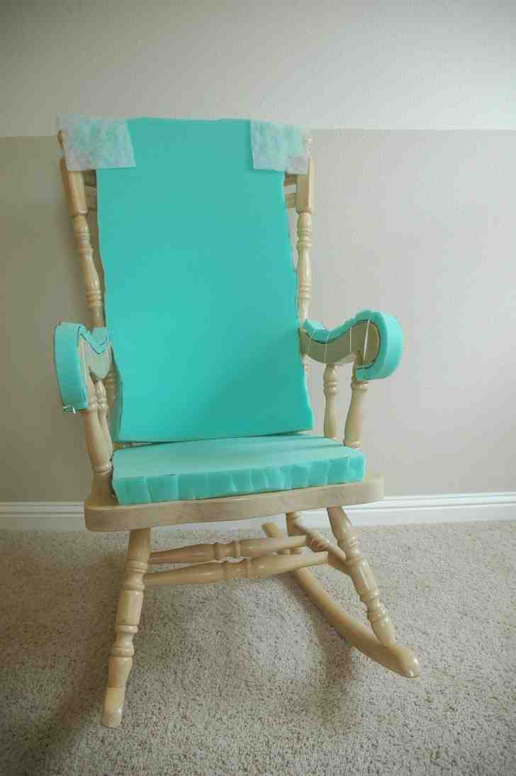 Cushioned Rocking Chair - Home Furniture Design