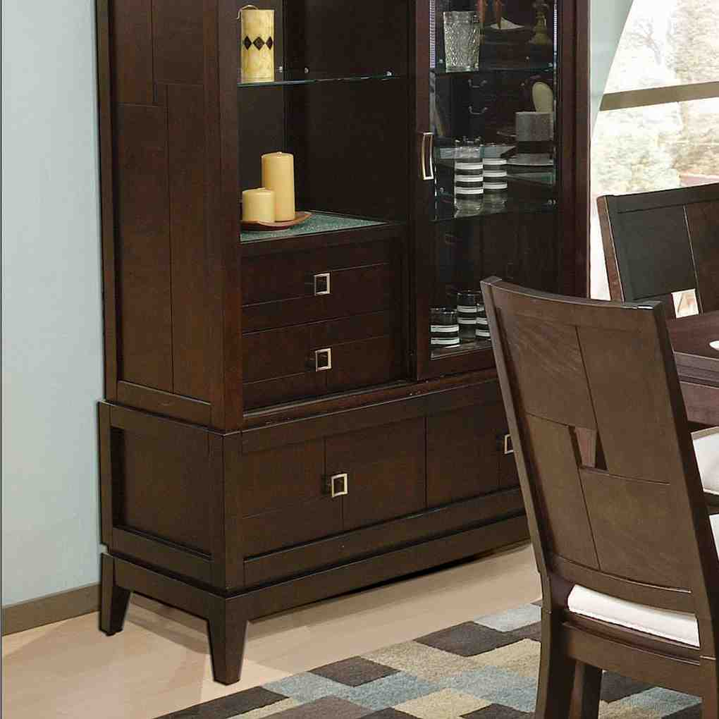 Espresso china cabinet home furniture design Home furniture from china