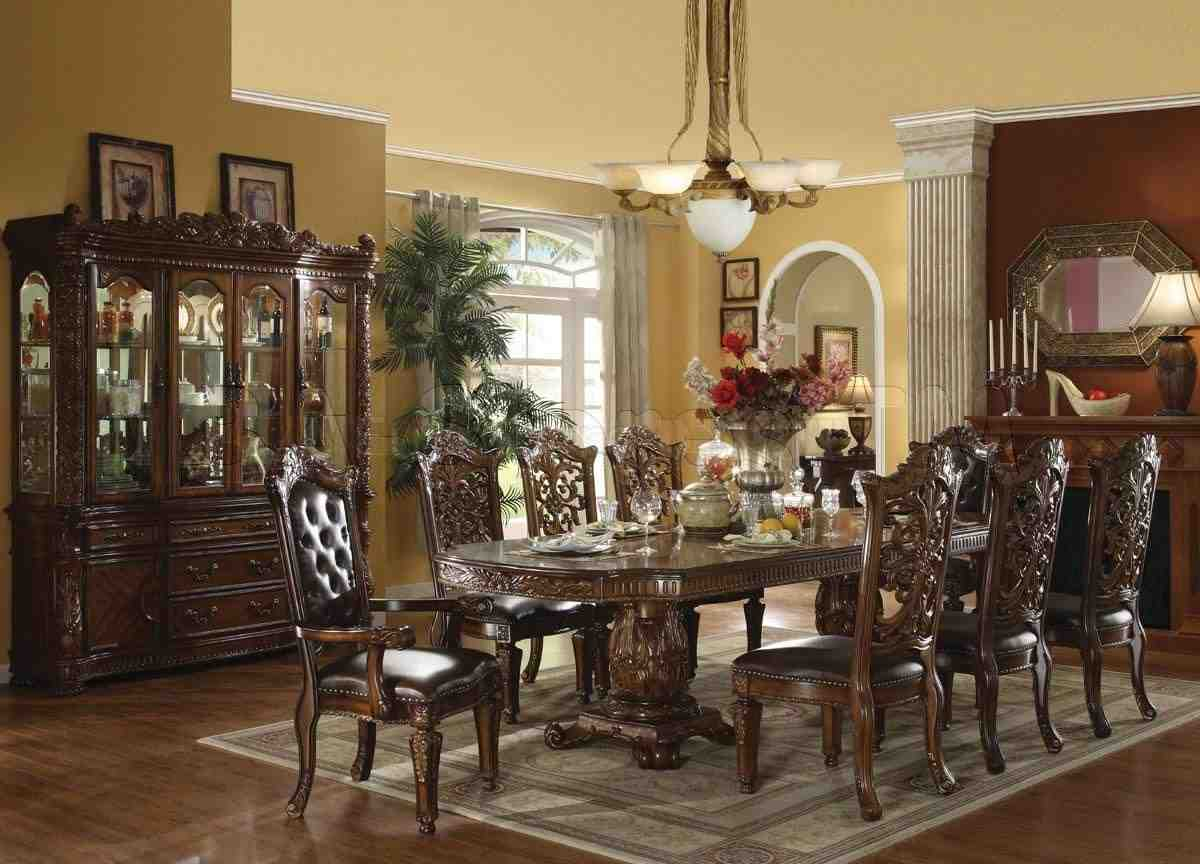 Formal dining room sets with china cabinet home for Fancy dining room sets