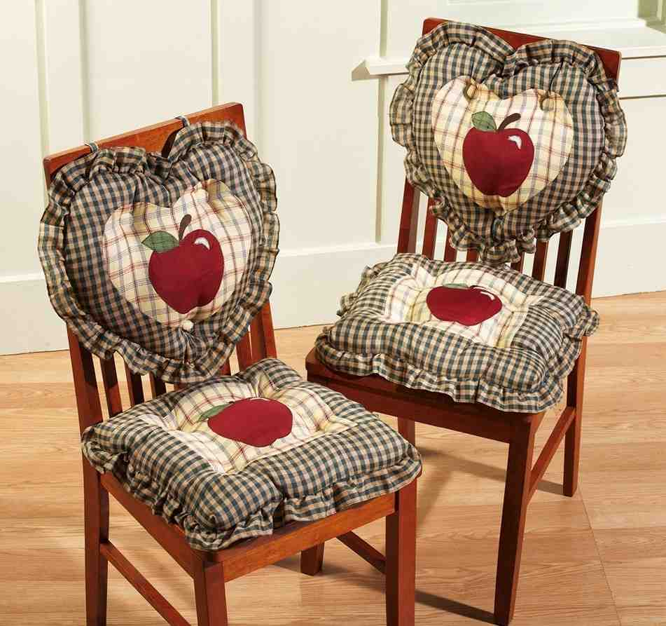 Chairs For Kitchen: Kitchen Chair Cushions With Ties