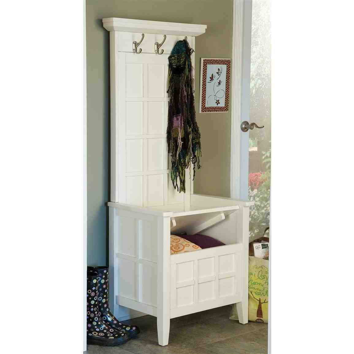 Shoe Rack Entryway Mini Hall Tree Storage Bench Home Furniture Design