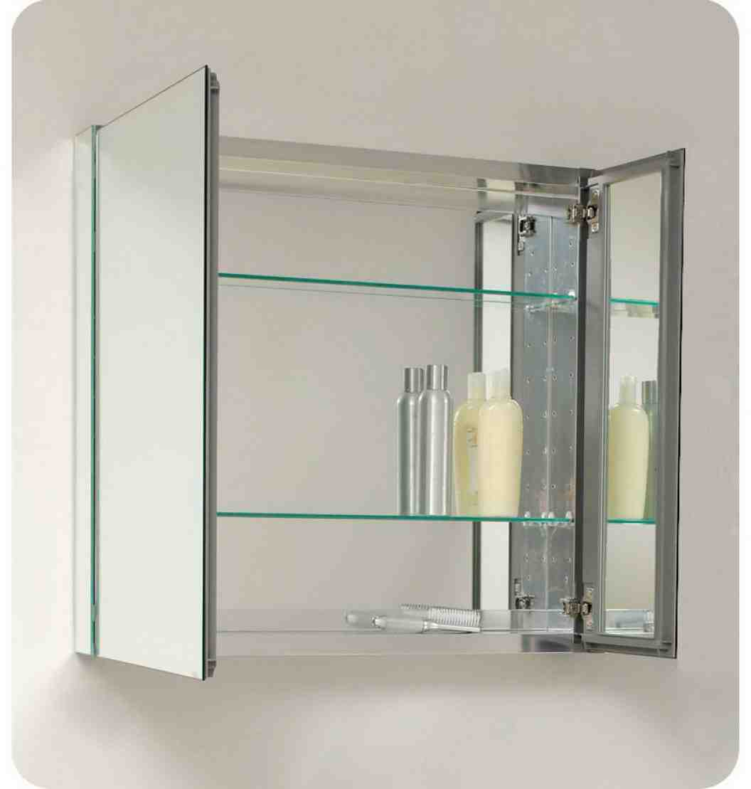 Mirrored bathroom cabinet home furniture design for Bathroom cabinet designs photos